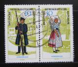 Poštovní známky DDR 1964 Regionální kostýmy Mi# 1076-77