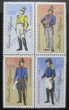 Poštovní známky DDR 1986 Poštovní uniformy Mi# 2997-3000 II