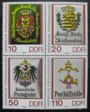 Poštovní známky DDR 1990 Poštovní insignie Mi# 3306-09