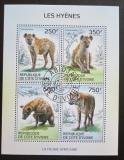 Poštovní známky Pobřeží Slonoviny 2014 Hyeny Mi# 1589-92