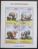 Poštovní známky Pobřeží Slonoviny 2014 Hroši Mi# 1604-07