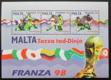 Poštovní známky Malta 1998 MS ve fotbale Mi# Block 17