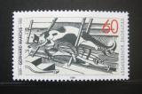 Poštovní známka Německo 1989 Kočka na půdě, Gerhard Marcks Mi# 1410