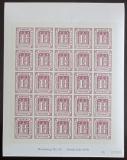 Viněta Německo 1978 Novotisk známky Hamburg Mi# 20