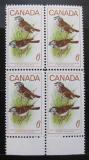 Poštovní známky Kanada 1969 Strnadec bělohrdý, čtyřblok Mi# 438