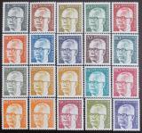 Poštovní známky Německo 1970-73 Prezident Heinemann Mi# 359, 361-67, 369-70, 394-96, 427-33