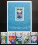 Poštovní známky DDR 1973 Festival mládeže Mi# 1862-66 + Block 38