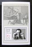 Poštovní známka DDR 1988 Bertolt Brecht Mi# Bl 91