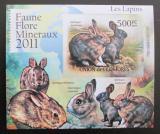 Poštovní známka Komory 2011 Králíci, neperf Deluxe Mi# 3051 B