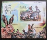 Poštovní známka Komory 2011 Králíci, neperf Deluxe Mi# 3048 B