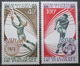 Poštovní známky Kongo 1973 MS ve fotbale Mi# 405-06