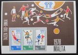 Poštovní známky Malta 1978 MS ve fotbale Mi# Block 5