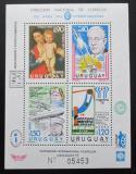 Poštovní známky Uruguay 1977 MS ve fotbale, umění, letectví Mi# Block 34 Kat 35€