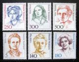 Poštovní známky Německo 1989 Slavné ženy ročník Mi# 1397,1405,1427-28,1432-33 Kat 21.40€