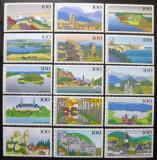 Poštovní známky Německo 1993-96 Scénické regiony Mi# 1684-86,1742-45,1807-10,1849-52 Kat 19.30€