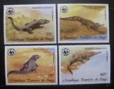 Poštovní známky Kongo 1987 Krokodýly WWF Mi# 1063-66 Kat 14€