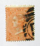 Poštovní známka Velká Británie 1865 Královna Viktorie SC# 43, desky č. 11 Kat $65