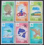 Poštovní známky KLDR 1978 Historie pošty Mi# 1693-98 a
