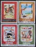 Poštovní známky KLDR 1980 Mořeplavci a letci Mi# 1985-88