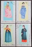 Poštovní známky KLDR 1977 Národní kostýmy Mi# 1600-03