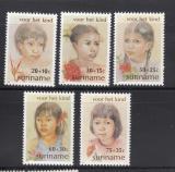 Poštovní známky Surinam 1981 Děti Mi# 962-66