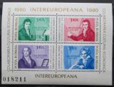 Poštovní známky Rumunsko 1980 INTEREUROPA Mi# Block 170