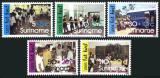 Poštovní známky Surinam 1986 Aktivity mládeže Mi# 1189-93