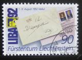 Poštovní známka Lichtenštejnsko 1991 LIBA exhibice Mi# 1026