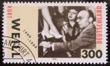 Poštovní známka Německo 2000 Kurt Well, skladatel Mi# 2100