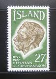 Poštovní známka Island 1975 Stephan G. Stephansson, básník Mi# 504