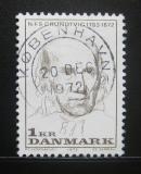 Poštovní známka Dánsko 1972 Nikolai Grundtvig, básník Mi# 522