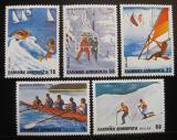 Poštovní známky Řecko 1983 Sporty Mi# 1515-19