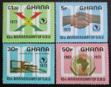 Poštovní známky Ghana 1973 Výročí OAU Mi# 516-19