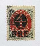 Poštovní známka Dánsko 1904 Nominální hodnota přetisk Mi# 40 Z