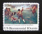 Poštovní známka USA 1975 Bitva Lexington-Concord Mi# 1171