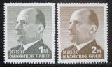 Poštovní známky DDR 1963 Walter Ulbright Mi# 968-69
