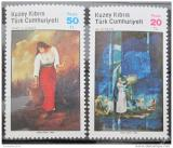 Poštovní známky Kypr Tur. 1985 Umění Mi# 170-71