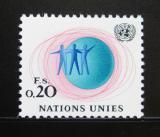Poštovní známka OSN Ženeva 1969 Tři muži a glóbus Mi# 3