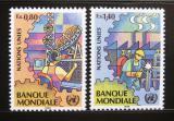 Poštovní známky OSN Ženeva 1989 Průmysl a telekomunikace Mi# 173-74