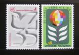 Poštovní známky OSN Vídeň 1980 Výročí OSN Mi# 12-13
