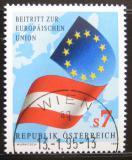 Poštovní známka Rakousko 1995 Členství v EU Mi# 2146
