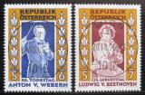 Poštovní známky Rakousko 1995 Skladatelé Mi# 2174-75
