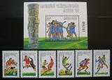 Poštovní známky Maďarsko 1986 MS ve fotbale Mi# 3814-19 + Block 183