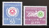 Poštovní známky Švýcarsko 1963 Konference UNCSAT Mi# 38-39