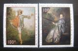 Poštovní známky Dahomey 1971 Umění, J. A. Watteau Mi# 446-47