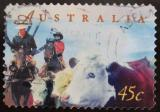 Poštovní známka Austrálie 1998 Chov skotu Mi# 1716