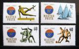 Poštovní známky Maďarsko 1961 Sport, VASAS Mi# 1772-75