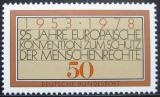 Poštovní známka Německo 1978 Úmluva o lidských právech Mi# 979