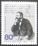 Poštovní známka Německo 1985 Fritz Reuter, spisovatel Mi# 1263