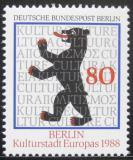 Poštovní známka Západní Berlín 1988 Berlínský medvěd Mi# 800
